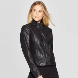 NWOT A New Day Black Faux Leather Jacket Small